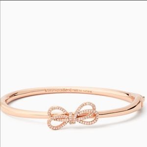 Kate Spade Bow Meets Girl Pave Rose Gold Bangle